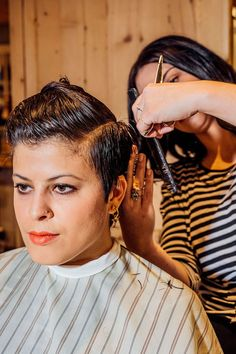 """""""Short-haired women — we're like a squad. It's hard to explain, but we immediately compliment each others' hair and ask where we got it done,"""" says Elena Polson, a New York graphic designer who sports a longer-on-top-shorter-on-the-sides crop. In fact, flagging down a random girl with an"""