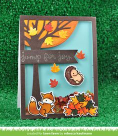Rebecca, from Lawn Fawn HQ, joins us today to share her cheerful Jump for Joy  shaker card!     This beautiful card is filled with Fal...