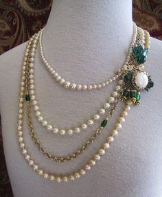 Repurposed necklaces | repurposed jewelry / vintage re-purposed jewelry