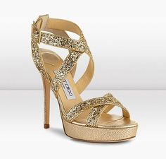 WANT. For my Indian clothes! Jimmy Choo | Vamp | Coarse Glitter Fabric Platform Strappy Sandals | JIMMYCHOO.COM