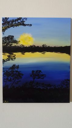 """White River Sunset"" DNA acrylic on canvas"