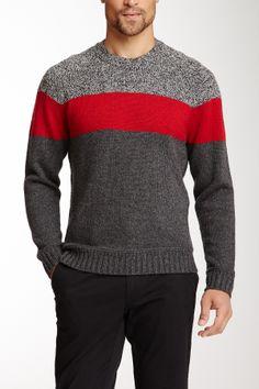 Color block sweater.