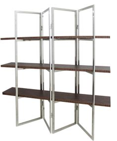 Shabby Chic Living Room Furniture :: Bookcases, Shelving & TV Units :: Brown Snakeskin Folding Shelving Unit -