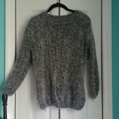 Fuzzy Gray Sweater! This sweater is super soft, fuzzy and comfy. Has 3/4 length sleeves. Fits as a solid medium. ROMWE Sweaters Crew & Scoop Necks