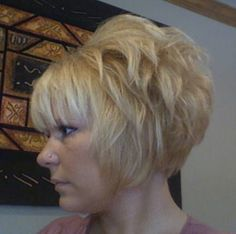 Hair Styles for Women That Enhance Their Beauty – HerHairdos Short Stacked Haircuts, Sassy Haircuts, Thin Hair Haircuts, Bob Hairstyles, Volume Hairstyles, Hairdos, Short Bobs, Teenage Hairstyles, Funky Short Hair