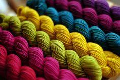 SweetGeorgia dye-to-order series of Sock Yarns Spring + Summer Series 2009 by @Sweetgeorgia