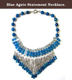 Blue Agate Statement Necklace. Blue agate statement necklace. Designed in Manhattan and hand-crafted in our own factory in China. Taolei showcase and sell their fabulous designs at major fashion capitals around the world -- New York, Paris, Milan. Besides new designs each season, we consistently add new styles to keep pace and create in line with current trends. Quality is our number one concern, we consistently improve our technology to keep our sterling from tarnish, our gold plate to…