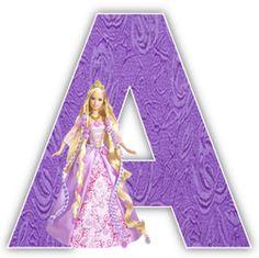 Alfabetos Lindos: Alfabeto da Barbie lilás com numerais