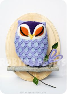 purple owl by robyn fabsits