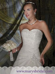 Discover the best and unique wedding Dresses from Mary's bridal collection. Choose your dream bridal wedding dresses from the wide variety of styles, fabrics, necklines, silhouettes and many more. Wedding Dress Train, Wedding Dress Sizes, Bridal Wedding Dresses, Wedding Bride, Dream Wedding, Wedding Things, Mary's Bridal, Bridal Style, Beautiful Wedding Gowns