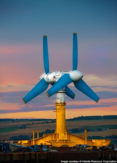 AK-1000 tidal turbine is at the European Marine Energy Centre (EMEC) in Orkney, Scotland. Check more @  http://www.power-technology.com/projects/aktidalturbine