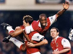Tony Adams, Ian Wright and Nigel Winterburn