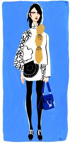 PreFall JW Anderson, cool fashion illustration by Bijou Karman