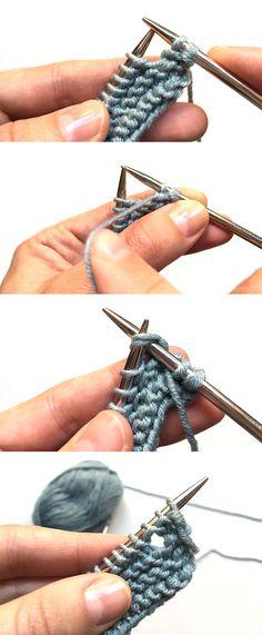 """Cómo hacer ojales en punto a dos agujas. Pelele de punto """"Musgo Baby"""" Patrón y tutorial paso a paso"""