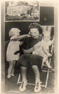 Prinses Juliana, prinses Beatrix, prinses Irene tijdens de tweede wereldoorlog in Canada.
