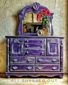 painted dresser shabby chic #shabbychicdresserscolors