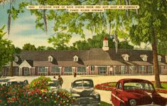 Exterior view of the main dining room and gift shop at Silver Springs in Ocala, Florida (ca. 1940s).   Florida Memory