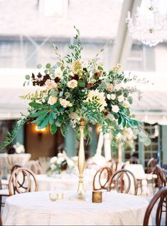 Tall wedding centerpiece idea - classic wedding centerpiece with cream and burgundy flowers - Find your event planner on WeddingWire! {Asheville Event Co.} Wedding Decorations, Table Decorations, Tall Wedding Centerpieces, Wedding Themes, Flor Essence, Bloom, Burgundy Flowers, Instagram, Mauve
