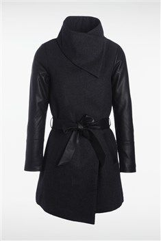 Court Selfridge Manteau Noir Et Aimée Coat Miss Selfridge B6XxwqE