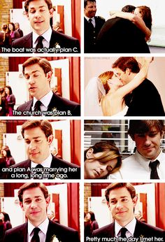 Jim & Pam. Honestly, I wanted them to be married in real life.. Just sayin' :)