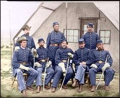 Re-coloured civil war photo. Makes it all the more real.
