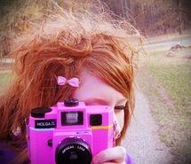 camera, cameras, fg:pink, girl, holga, pink (Full Size)