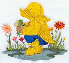 April Borders Clip Art   Fisherman Fred celebrates the arrival of spring by playing in the ...