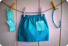 "My ""DIY Toddler Skirt"" Tutorial from my blog The Hem of His Garment on WordPress"