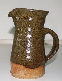 Tonna Elisabeth Kjærsgaard, pitcher in stoneware, own studio Denmark. H: 17 cm.