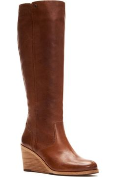 Knee High Wedge Boots, Wedge Heels, Wedges Outfit, High Wedges, Mommy Style, Mens Fashion Shoes, Womens High Heels, Nordstrom, Leather