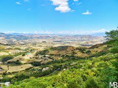 Campagna siciliana vista da Enna - Sicilian countryside views from Enna