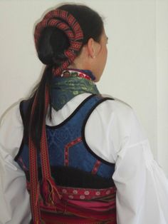 Beltestakk from Telemark ( bunad ) Folk Costume, Costumes, Tablet Weaving, Drawing Clothes, Headgear, Traditional Outfits, Norway, Culture, Celebrities