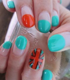 Funky Union Jack Nails