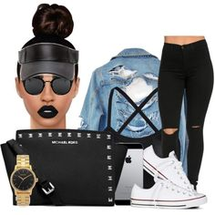 84 by jalay on Polyvore featuring polyvore, moda, style, High Heels Suicide, Converse, MICHAEL Michael Kors, Nixon, Lime Crime, fashion and clothing