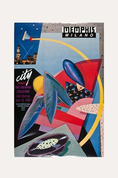 Available for sale from The Modern Archive, Chris Garland, Chicago City Store Memphis/Milano Poster 1984 Lithographic offset poster on paper with g…