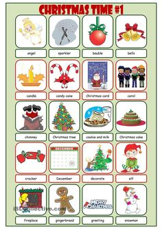 Christmas Time Picture Dictionary#1