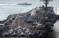 EUA enviam porta-aviões para águas junto à Coreia do Norte
