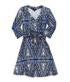 AGB Womens Belted Southwest Sheath Dress bluewhite XS ** Click image to review more details.