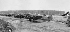 "Yakolev Yak-1 fighters of Free French ""Normandie Niemen"" with the Red Air Force."