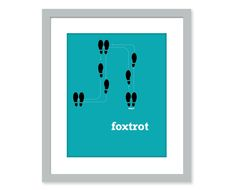 Dance art -  8x10 poster - fox trot dance steps - colorful wall art. $14.00, via Etsy.