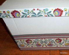 Mój decoupage- kartony do przechowywania różnych rzeczy // My decoupage-cardboard for storing different things