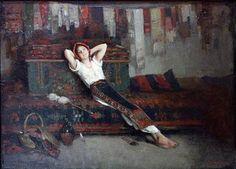 Fata Cu Zestrea Ei by Nicolae Grigorescu Art Nouveau, Francis Picabia, Human Pictures, Vintage Artwork, Portraits, Female Art, Art History, Painting & Drawing, Scene