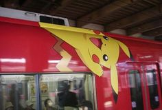Decorated trains in Japan