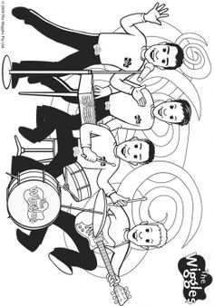 Wiggles big red car coloring page coloring pages for Wiggles coloring page