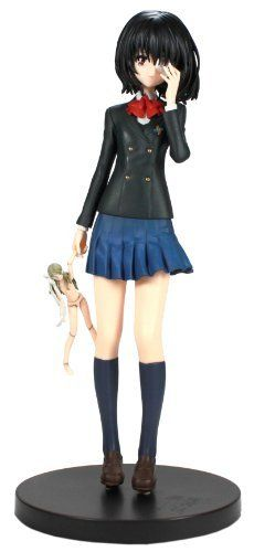 """Sega Another Premium Figure - 9"""" Misaki Mei by Sega. $39.99. Limited Quantity. Official Licensed Figure from Banpresto Japan. Great for Holiday Gift. Size approx. 9"""""""" tall. Minor assembly require. Mei Misaki is one of the main protagonists of Another. She was labeled by her classmates as """"the one that does not exist."""" Mei has both a red right eye and a green left doll's eye. Also, she is a student of Class 3-3 in 1998."""