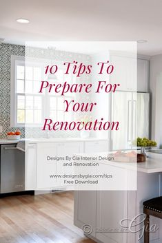 Tips for preparing for a renovation. Kitchen or bath renovation Bath Remodel, Kitchen Remodel, Interior Design And Build, Rustic Kitchen, Kitchen Ideas, Beautiful Kitchens, Home Renovation, Bathrooms, Blog