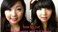 Simple way of cutting side bangs and full bangs. Been doing this for 2 years already.