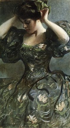 The Green Bow by John White Alexander, 1898.  {via earwigbiscuits}