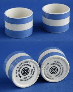 EGG CUPS: Cornishware by T.G. Green.     ✫ღ⊰n
