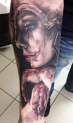 Tattoo Artist - Florian  Karg  - face tattoo
